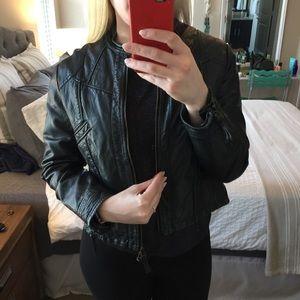 Jackets & Blazers - Black Leather Moto Jacket